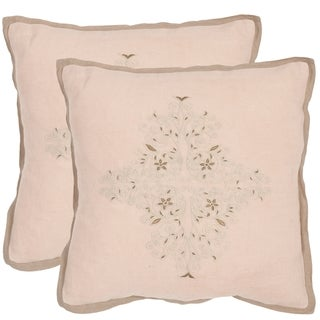 Safavieh Liege Petal 20-inch Square Throw Pillows (Set of 2)