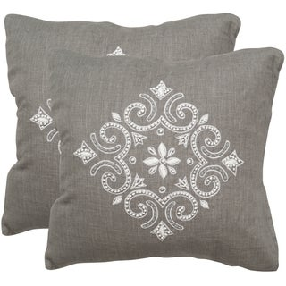 Safavieh Regina Sterling 20-inch Square Throw Pillows (Set of 2)