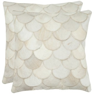 Safavieh Elita Multi/ Cream 18-inch Square Throw Pillows (Set of 2)