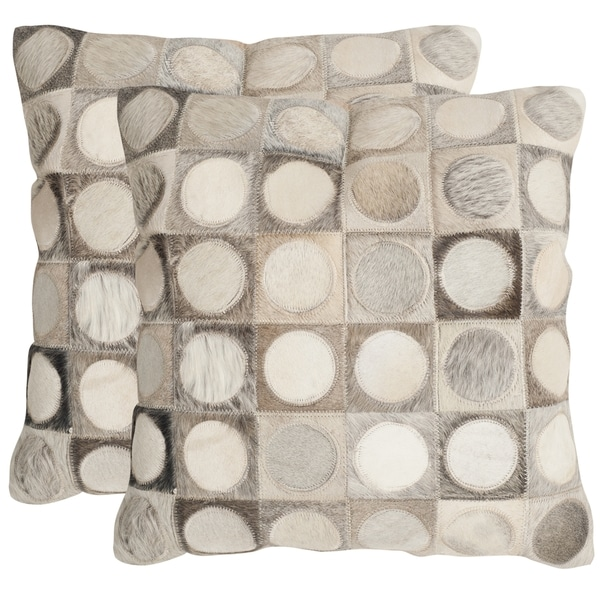 Safavieh Brigitte Multi/ Grey 22-inch Square Throw Pillows (Set of 2) 14157829