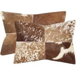 Safavieh Selma Tan 14 x 20-inch Throw Pillows (Set of 2)