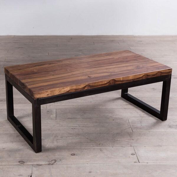 Indian Reclaimed Wood Coffee Table: Cordova Reclaimed Wood/ Iron Long Coffee Table (India