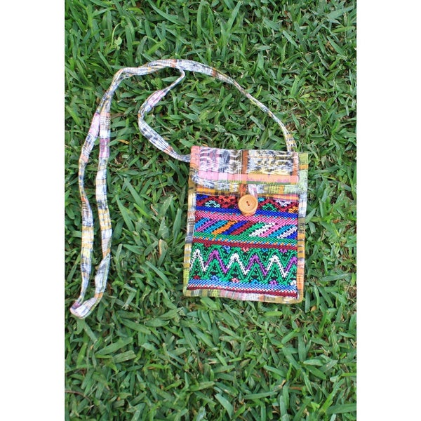 Handmade Recycled Knock-Around Cross Body Bag (Guatemala)
