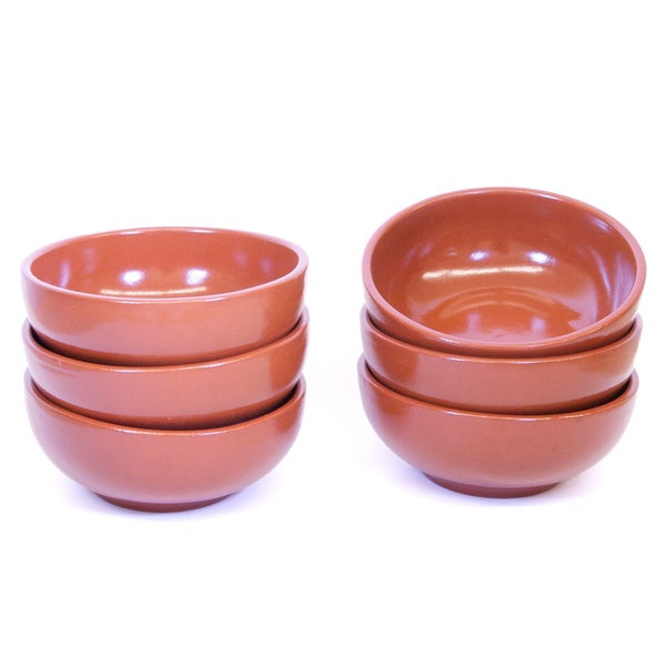 Classic 6-piece Elegant Terracotta Soup Bowl Set