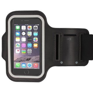 INSTEN Elastic Deluxe Sports Gym Running Black Armband For Apple iPhone 6 Plus