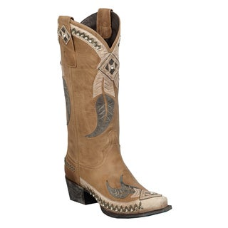 Lane Boots Women's 'Sequoia Indian Feather' Leather Cowboy Boots