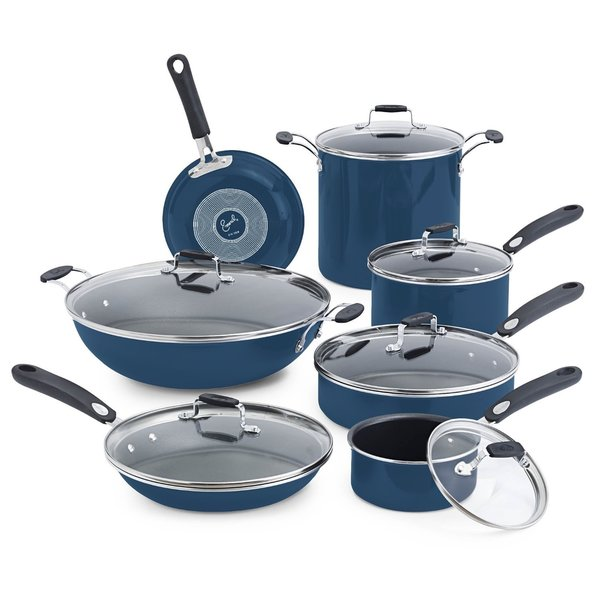 Emeril by All-Clad Hard Enamel Blue 13-piece Set