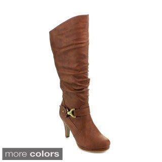 Top Moda Page-65 Women's Knee-high Slouched Boots