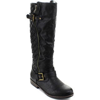 Bamboo Montage-87N Women's Knee-high Buckle Riding Boots