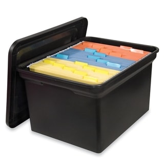 Sparco File N Store Portable Bin with Lid