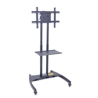 Offex Adjustable Grey Flat Panel Cart