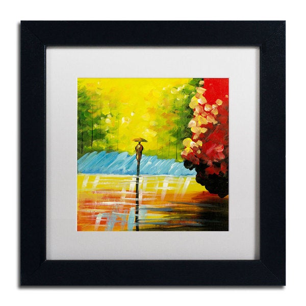 Ricardo Tapia 'Rainy Day' Framed Matted Art 14160848