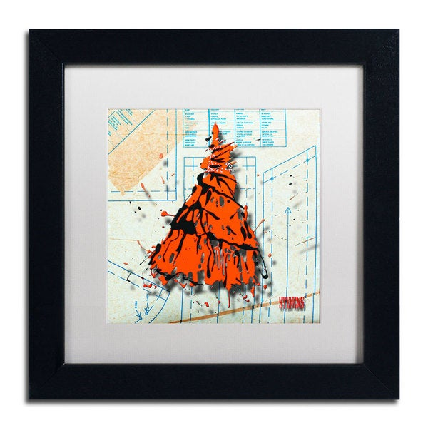 Roderick Stevens 'Shoulder Dress Orange' Framed Matted Art