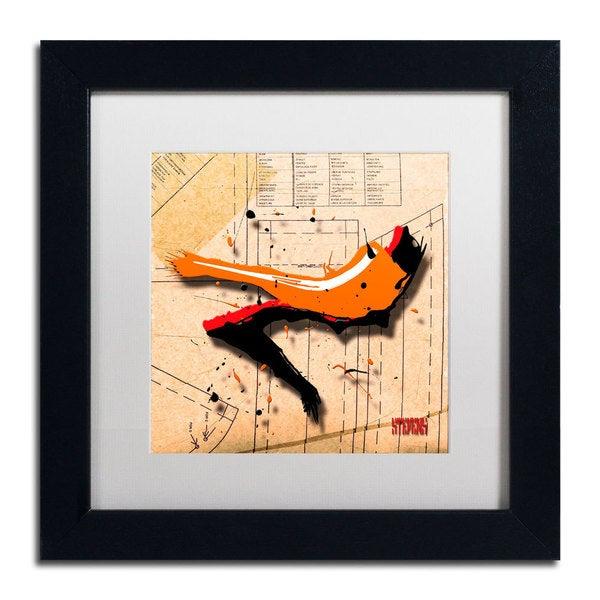 Roderick Stevens 'Suede Heel Orange' Framed Matted Art