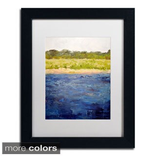 Michelle Calkins 'Coastal Dunes' Framed Matted Art