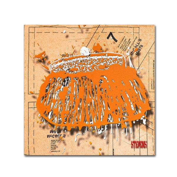 Roderick Stevens 'Snap Purse Orange' Canvas Art