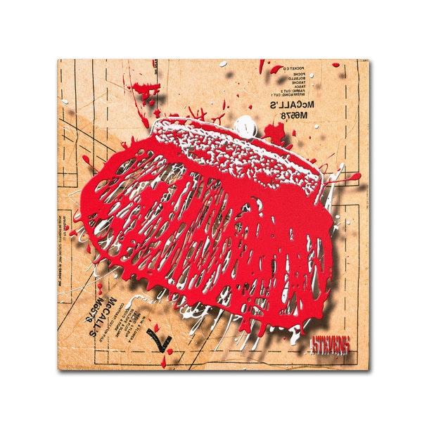 Roderick Stevens 'Snap Purse Red' Canvas Art