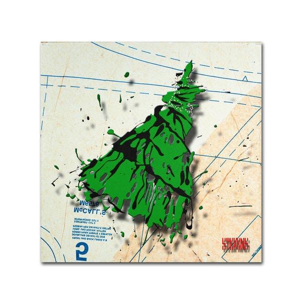 Roderick Stevens 'Shoulder Dress Green n Black' Canvas Art