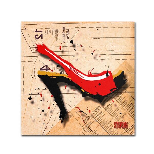 Roderick Stevens 'Suede Heel Red' Canvas Art