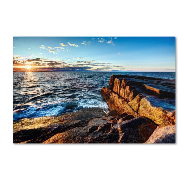 David Ayash 'Sunrise Over the Atlantic in Maine' Canvas Art