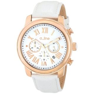 A Line Women's AL-80163-RG-02 Amor White Watch