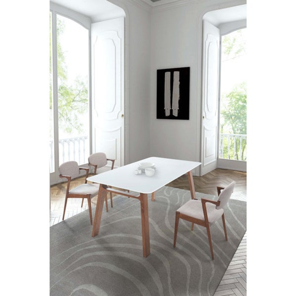Coconut Grove Dining Table Walnut & White