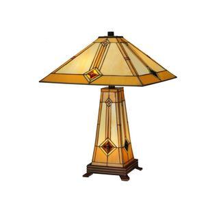 Diamond Mission 2-light Lighted Base Table Lamp