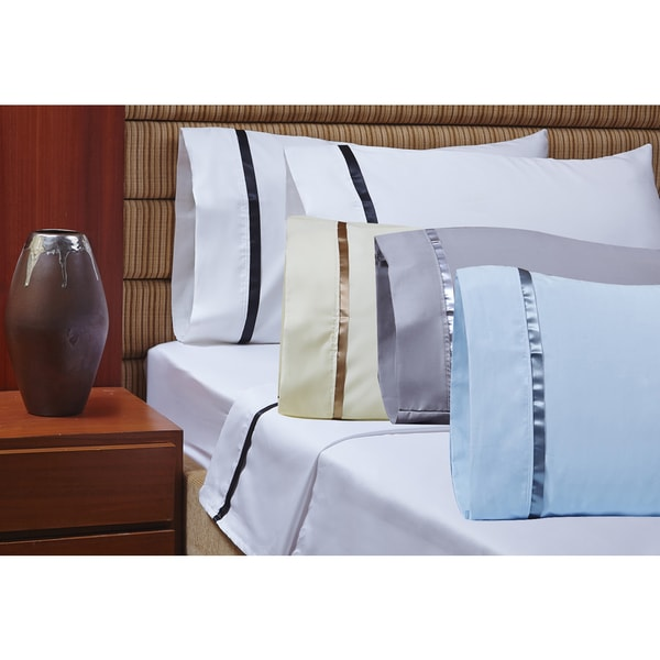 1000 Thread Count Egyptian Cotton Sheet Set with Sateen Band