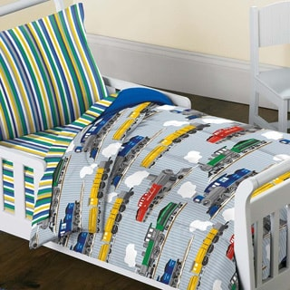 Trains 4-piece Toddler Bedding Set
