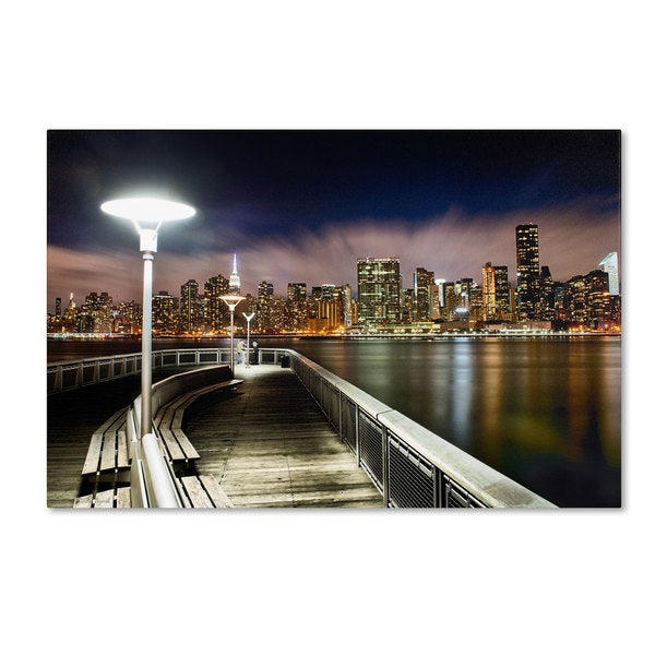 David Ayash 'Gantry Plaza - NYC' Canvas Art