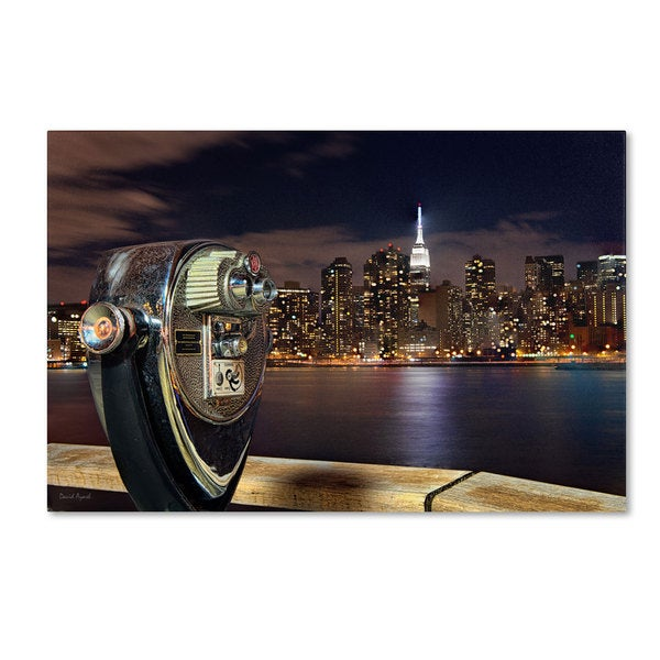 David Ayash 'Midtown Over the East River-III' Canvas Art