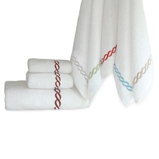 Hotel Embroidered Link Turkish Cotton 3-piece Towel Set