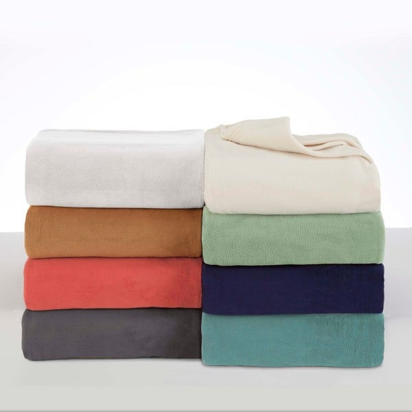 Vellux Fleece Solid Color Blanket