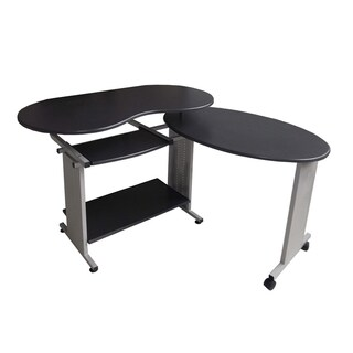 Merax Adjustable Corner Dark Grey Computer Desk