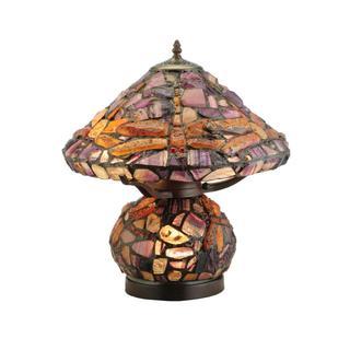 18.5-inch Dragonfly Jadestone Table Lamp