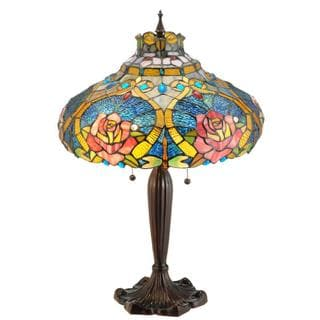 26-inch Dragonfly Rose Table Lamp