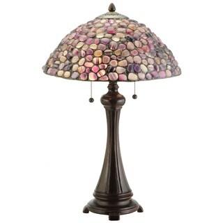 25-inch Jasper Purple Table Lamp