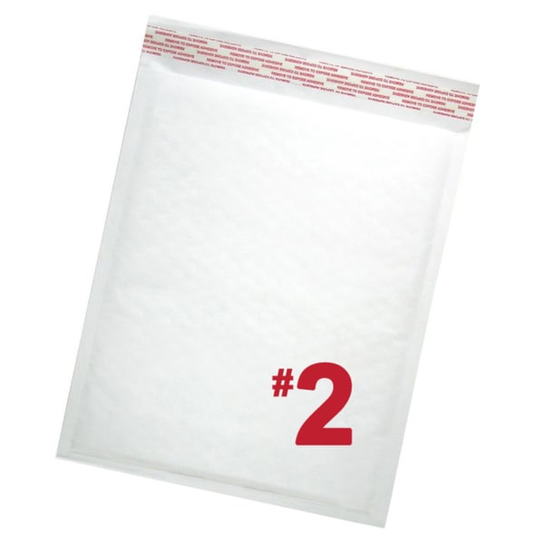 Size #2 Self-seal White Kraft Bubble Mailers