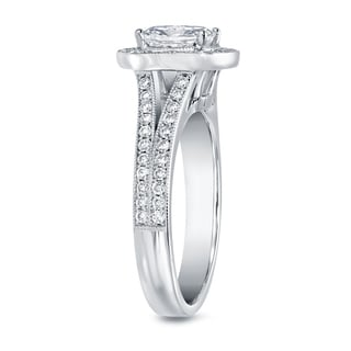 Auriya 14k White Gold 2ct TDW Cushion-cut Diamond Ring (F-G, VS1-VS2)