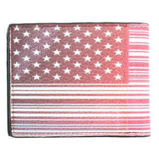 YL Fashion 'Bearcard' Men's Pink Leather Bi-fold Wallet