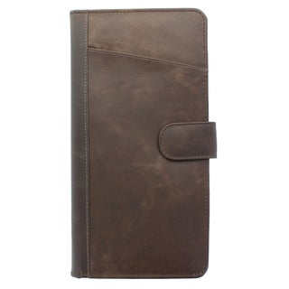 YL Fashion Unisex Brown Leather Bi-fold Passport Case