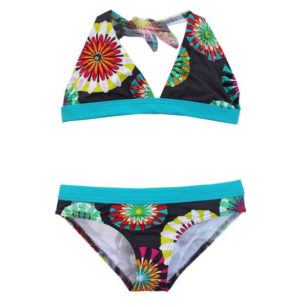 Azul Swimwear Girl's 'Pinwheels' Halter Bikini Swimsuit