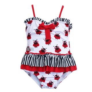 Azul Swimwear Toddler Girl's 'Miss Nerdy Bug' One-piece Swimsuit