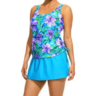 Women's Sun Kissed Blue Tankini Top and Bottom