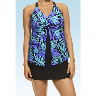 Hawaiian Punch Black and Teal Tankini Top and Bottom