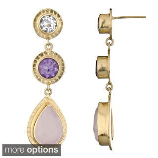 Emitations Brass Genuine Drop Earrings