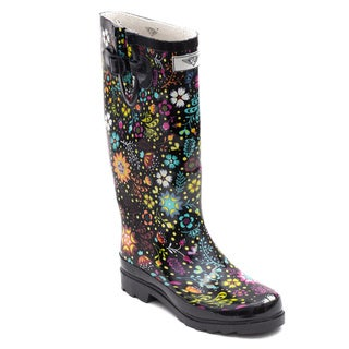 Women's Floral Bloom Rubber Rain Boots