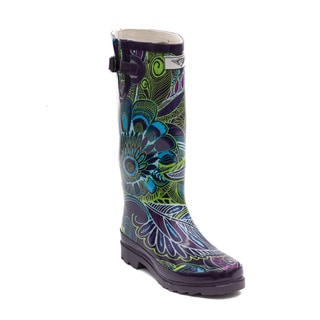 Women's Pattern Bloom Rubber Boots