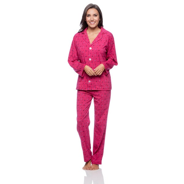 Aegean Apparel Women's Bouquet Print PJ Set