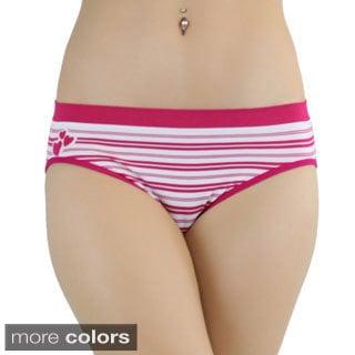 TBIS Striped 6-pair Seamless Bikini Briefs